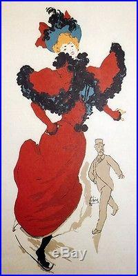 PALAIS DE GLACE CHAMPS-ELYSEES Affiche originale entoilée Litho CHERET 1894