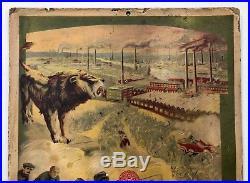 PEUGEOT 1913 Rare Panonceau lithographié signé Tamagno