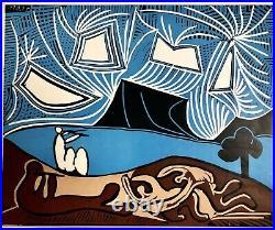 PICASSO VALLAURIS Affiche Originale Litho, 1960. RARE! NO REPRO
