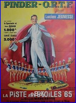 PINDER O. R. T. F. 1965 Affiche originale entoilée 48x64cm (Lucien JEUNESSE)