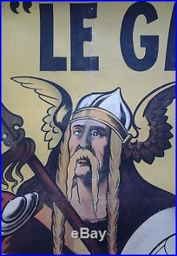 PNEUS LE GAULOIS BERGOUGNAN Clermont-Ferrand AFFICHE ORIGINALE ANCIENNE/G207
