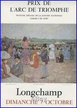 PRIX de l'ARC DE TRIOMPHE LONGCHAMP 1973 Affiche originale entoilée (FORAIN)
