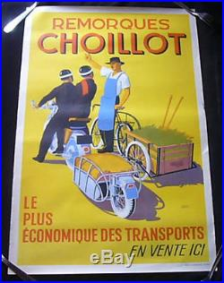 publicit ancienne affiche art d co 1930 choillot moto e martin ramboz tbe. Black Bedroom Furniture Sets. Home Design Ideas