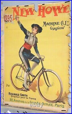 Pal Affiche Ancienne Cycles New Howe 1895
