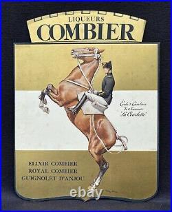 Panonceau Liqueur COMBIER à Saumur / Cavalier du Cadre Noir par Georges Scott