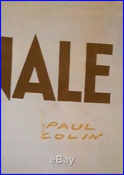 Paul Colin Affiche Ancienne Originale