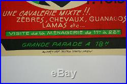 Petite Affiche ancienne cirque les frères FRANCKI 1958, ANTIQUE CIRCUS POSTER