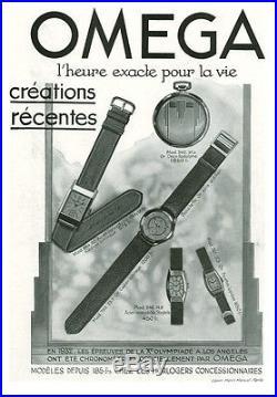 Publicité Ancienne Bijoux Montres OMEGA 1933 (P. 2+3) Comp. Henri Manuel