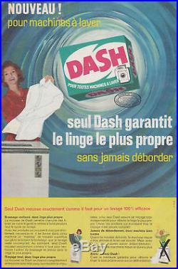 Publicité Ancienne Dash Lessive 1963