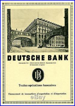 Publicité Ancienne Deutsche Bank 1941 (P 24)