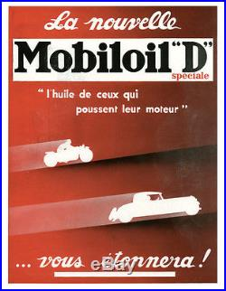 Publicité Ancienne Huile Mobiloil D 1933 (P. 3 + autres)