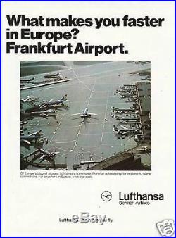 Publicité Ancienne Lufthansa German Airlines 1975