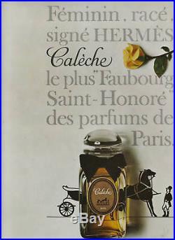 Publicité Ancienne Parfum Calèche Hermès 1962
