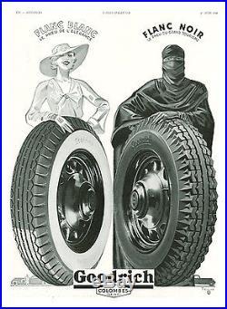 Publicité Ancienne Pneus Goodrich Blanc-Noir 1935 (P 22) Bleuer