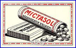 Publicités rééditions Médicament Mictasol