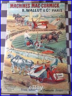 RARE ANCIENNE AFFICHE PUBLICITAIRE AGRICOLE no 2 MAC CORMICK NO COPY PUR JUS