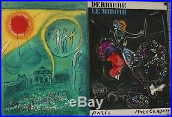 RARE DERRIERE LE MIROIR 1954 MARC CHAGALL 1954 N 66-67-68 LITHOGRAPHIES complet