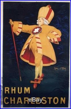 RHUM CHARLESTON Affiche originale entoilée Litho Jean d'YLEN 1923 134x203cm