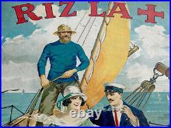 RIZ LA + 1925, ancien carton publicitaire
