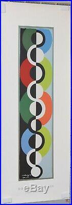 ROBERT DELAUNAY 1990 AFFICHE D' APRES RYTHME SANS FIN 1934 offset 100 X 45 cm