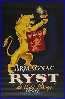 RYST Affiche originale ancienne années 4O Excellent état 150 x 100 cm