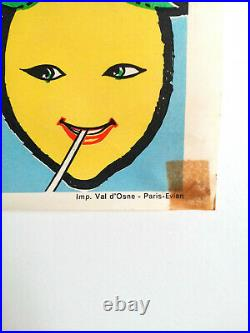 Rafiu King Sugar Ramos Boxe Palais Des Sports Affiche Originale 1962