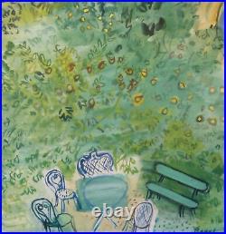 Raoul Dufy 1954 Sncf Normandie 100x62 CM Sncf Affiche Entoilée