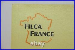 Rare Affiche Ancienne Originale Citroen Hy Tub Type H Camping-car Filca France