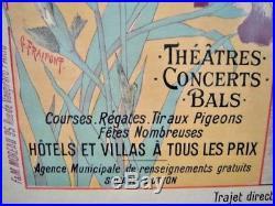 Rare Affiche Chemins de Fer de l' Etat ROYAN Charente Maritime Années 1900