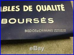 Rare Affiche ancienne BLIZZAND Tergal Boussac French fashion 60's vintage poster
