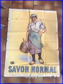 Rare Affiche ancienne Savon Normal par Firmin Bouisset 1900