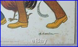 Rare Affichette A La Conquete Du Monde Pathe Freres 1894-19. A Barrere