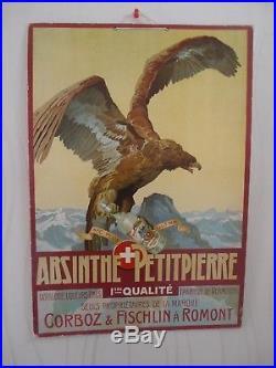 Rare Carton Ancien Absinthe Petitpierre Non Reproduction (55)