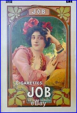 Rare Carton Lithographique 1900 Cigarette JOB de Jean Bardou