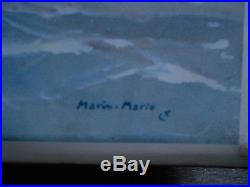 Rare Glacoïde Paquebot France à New York par Marin Marie