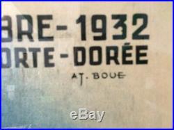 Rare affiche 1932 kermesse porte doree paris, bieres de metz brasserie lorraine