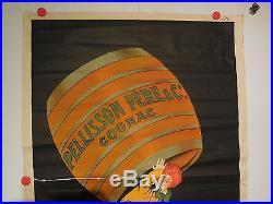 Rare affiche ancienne 80 cm par 120 cm Cognac Pelisson par Cappiello