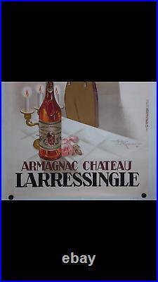 Rare affiche ancienne armagnac Chateau Larressingle par Henri le Monnier