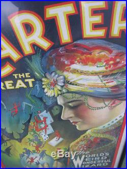 Rare affiche ancienne lithographiée CARTER THE GREAT 1926