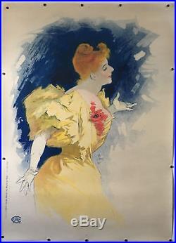 Rare affiche litho originale Jules Chéret de Camille Stéphani en 1896 imp. Chaix