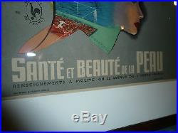 Rare affiche lithographie Molitg les bains P Gurtlier