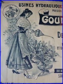 Rare affiche originale litho 1904 pour GOUNELLE JEUNE produit de la vigne