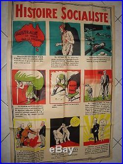 Rare affiche politique ancienne Histoire Socialiste