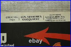 Rare affiche simon monnatte the british américan paris directory 1924 nord 59