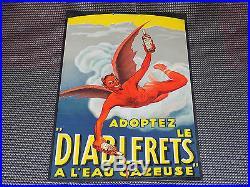 Rare ancien carton publicitaire Suisse le diablerets