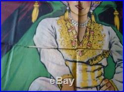Rare ancienne affiche cirque magie Ryss le barman de Satan signée Henri Florit