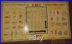 Rare et ancien panneau publicitaire DMC couture broderie coton