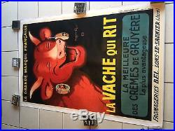 Rare et grande affiche ancienne La vache qui rit par Benjamin Rabier annees 1930