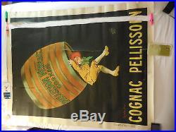 Rare grande affiche ancienne 120 cm par 160 cm Cognac Pelisson par Cappiello