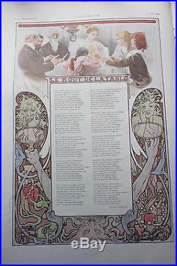 Rare revue L'Illustration numéro de Noël Art Nouveau 1896 1897 par Alfons Mucha